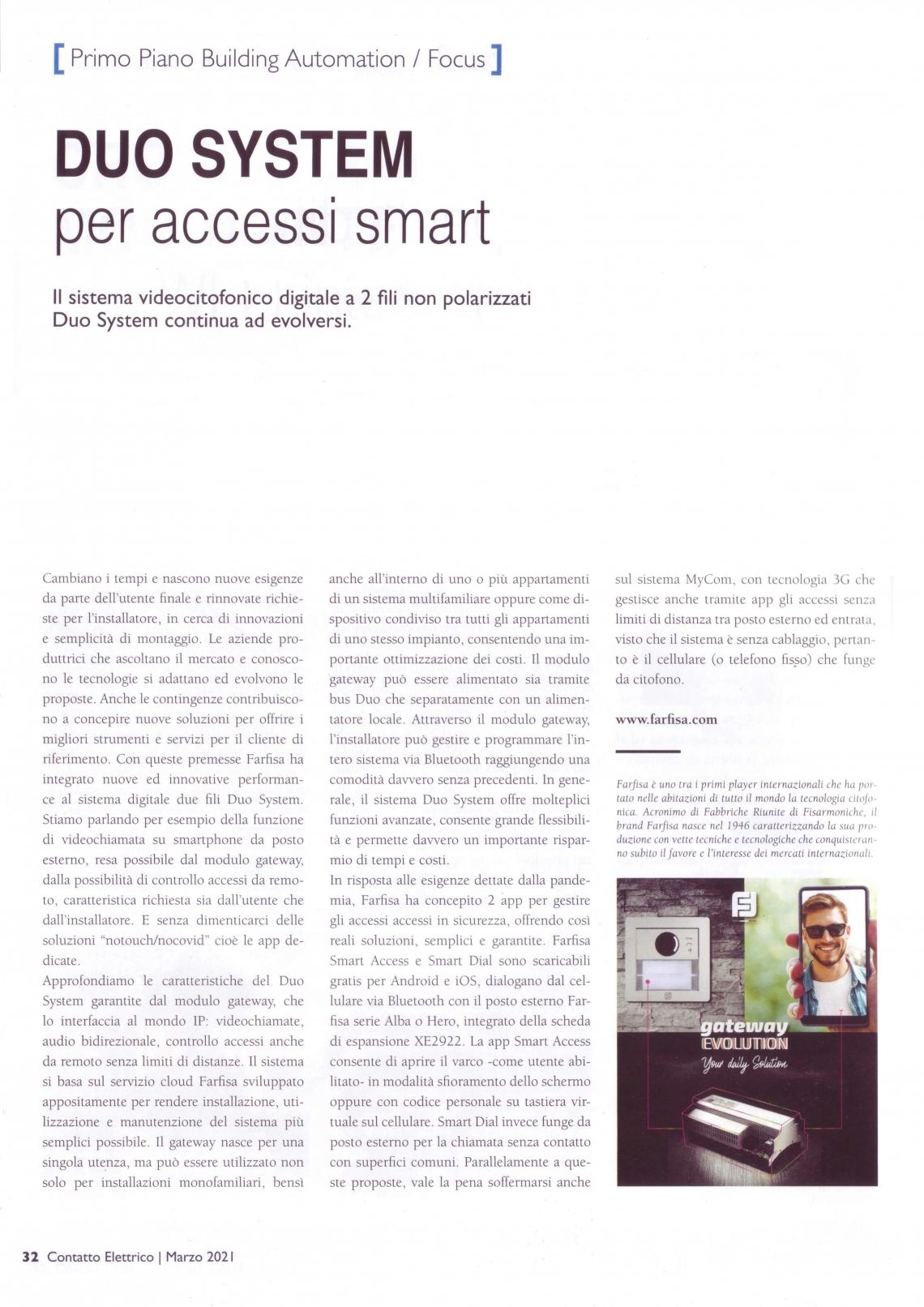 Duo System per accessi smart