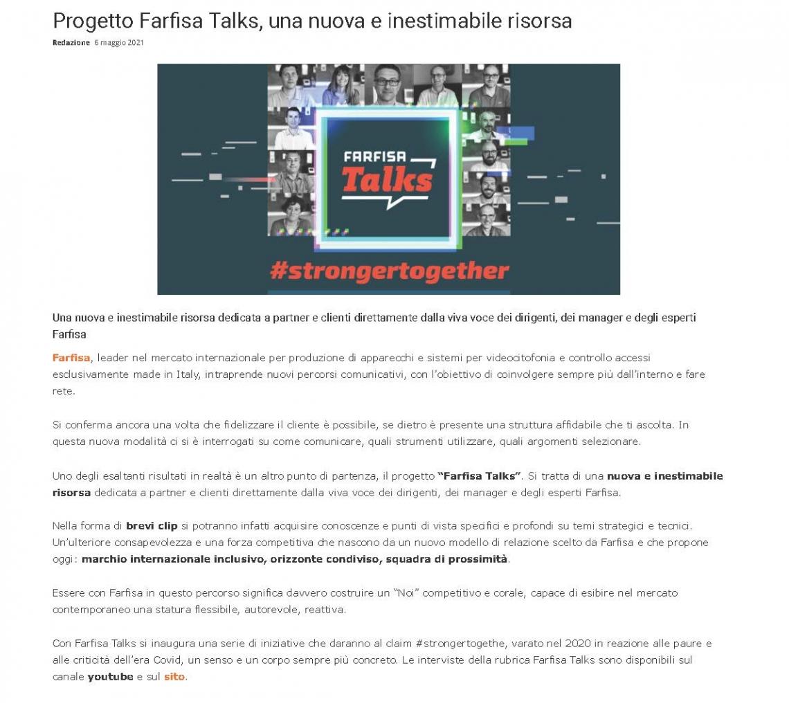 Farfisa Talks, una nuova e inestimabile risorsa