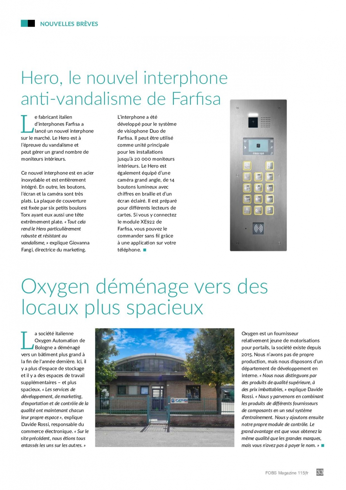 Hero: le neuveau interphone anti vandalisme de Farfisa