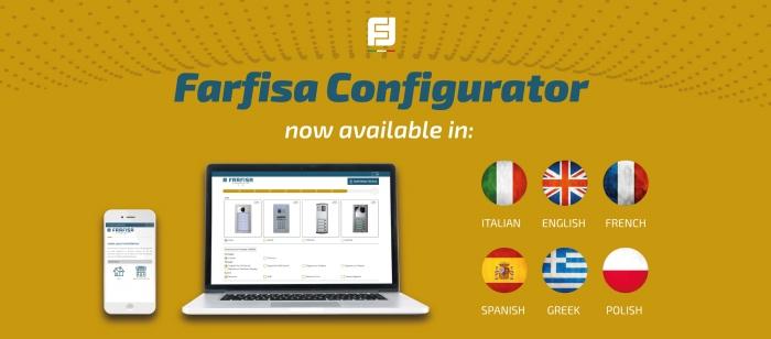 Il configuratore online Farfisa è multilingua!!